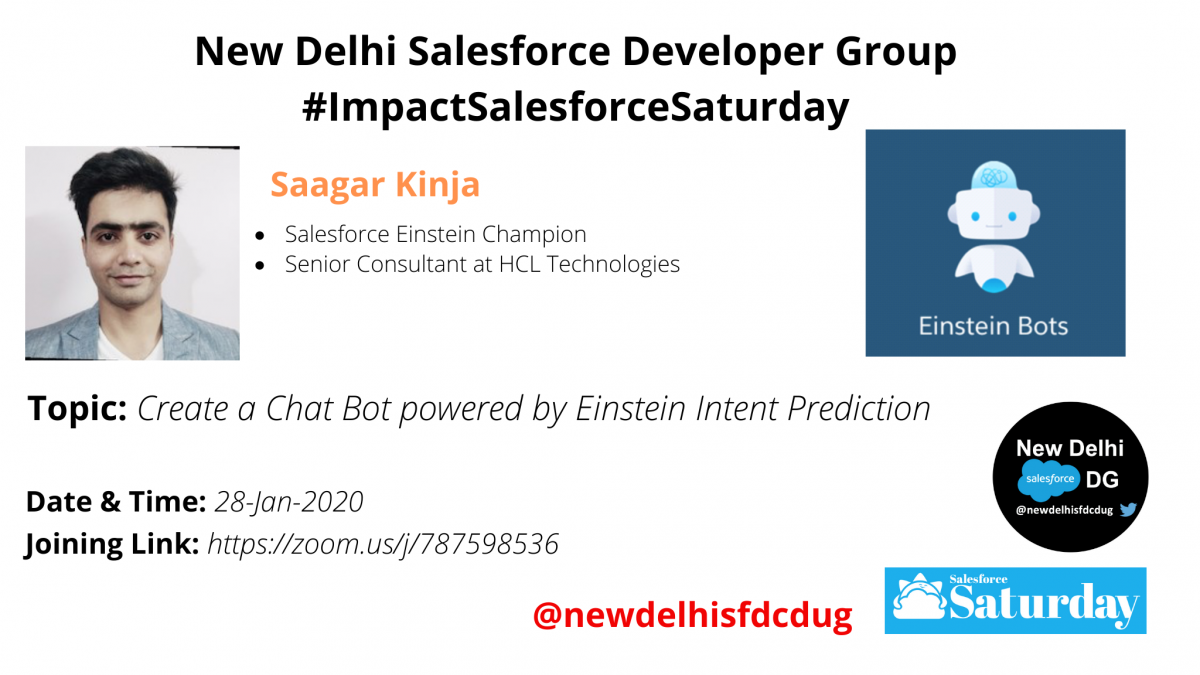 #ImpactSalesforceSaturday: Create a Chat Bot powered by Einstein Intent Prediction